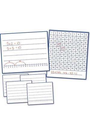 Write and Wipe Boards to 100 – 6 Pack (Number Smart)