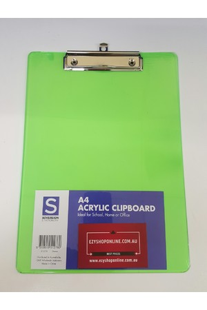 Sovereign Clipboard (A4) - Acrylic: Green
