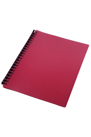 Sovereign Display Book (A4) - Refillable Burgundy: 20 Pocket (Box of 10)