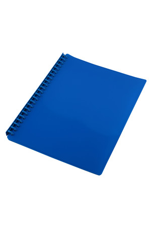 Sovereign Display Book (A4) - Refillable Gloss Blue: 20 Pocket (Box of 10)