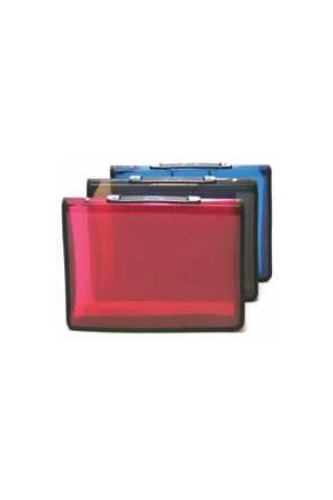 Sovereign Binder (A4) - 2R Zipper with Handle: Red