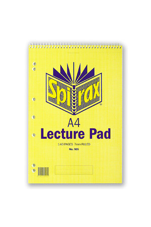 Spirax Lecture Pad 905 - A4 70 Leaf: Top Opening (Pack of 10)