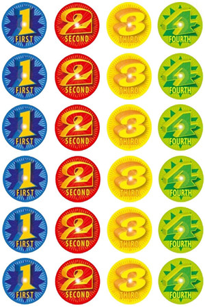1234 Award Stickers - Pack of 96