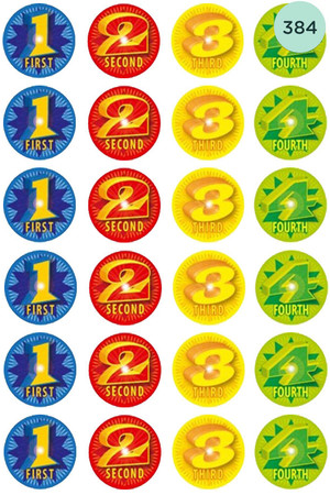 1234 Award Stickers - Pack of 384