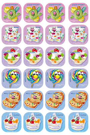 Tutti Frutti Shaped ScentSations Stickers