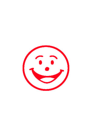 Shiny - Merit Stamp: Smiley Face (Red)