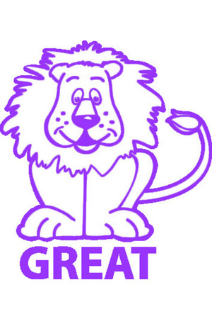 Great Lion Merit Stamp