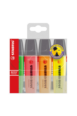Stabilo Boss Highlighters - Assorted: Pack of 4