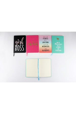 Stylex Notebook - PU Cover Fashion (A5): Assorted 192 Pages (Pack of 4)