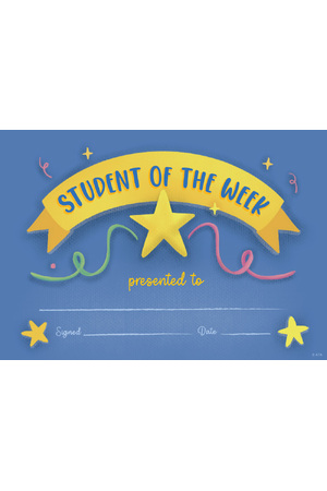 Student of The Week Merit Certificate - Pack of 35