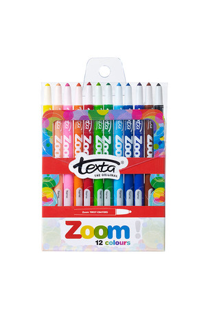 Texta Crayons - Zoom Assorted: Pack of 12
