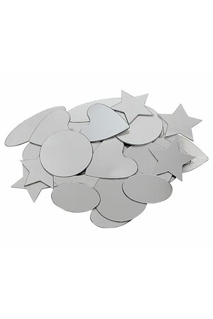 Mirrors - Adhesive Geometric Shapes (Pack of 50)