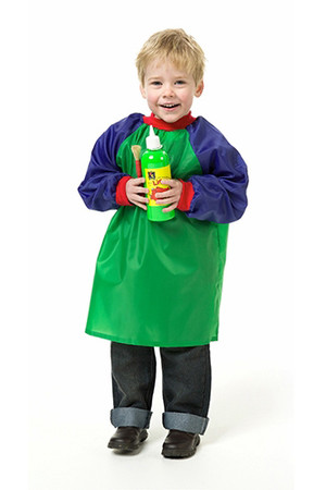 Painting Smock Toddler - Green (Open-Back)