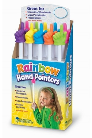 Rainbow Hand Pointers - Pack of 10