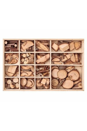 Wooden Pieces in Box