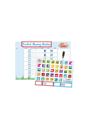 Monkey & Chops Pocket Money Maths - Rigid Magnetic Board