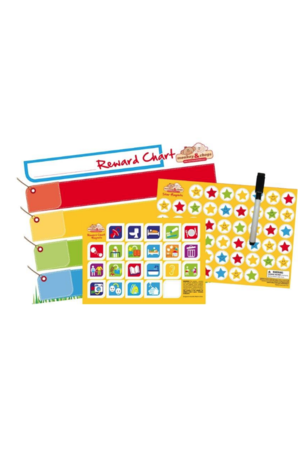 Monkey & Chops Reward Chart - Rigid Magnetic Board