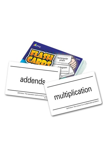 Flash Cards - Math Vocabulary