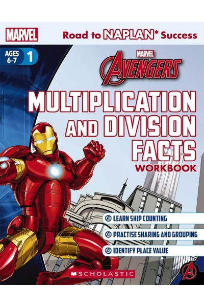 Road to NAPLAN Success: Level 1 - Avengers Multiplication and Division Facts Workbook