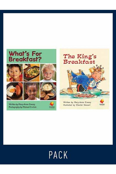 Flying Start to Literacy: Guided Reading - What's for Breakfast and The King's Breakfast - Level 11 (Pack 3)