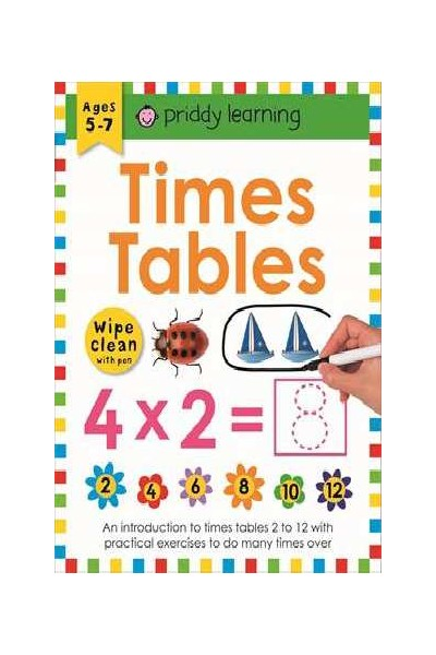 Priddy Activity Book - Times Tables: Wipe and Clean Workbook