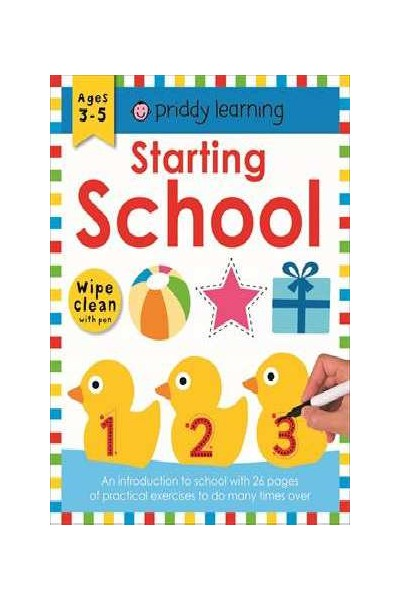 Priddy Activity Book - Starting School: Wipe and Clean
