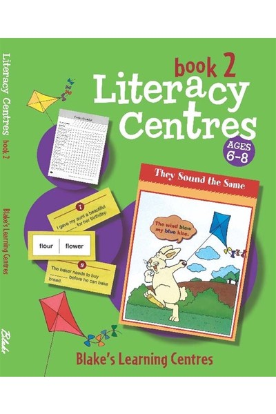 Blake's Learning Centres - Literacy Centres: Book 2 (Ages 6-8)