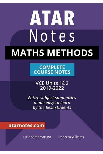 ATAR Notes VCE Maths Methods 1 & 2 Notes