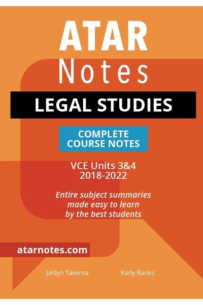 ATAR Notes VCE Legal Studies 3 & 4 Notes