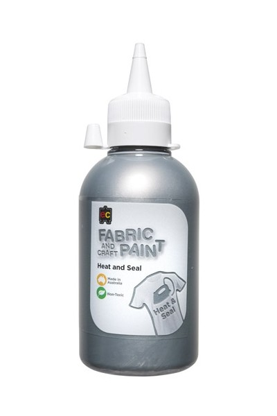Fabric and Craft Paint - 250mL: Silver
