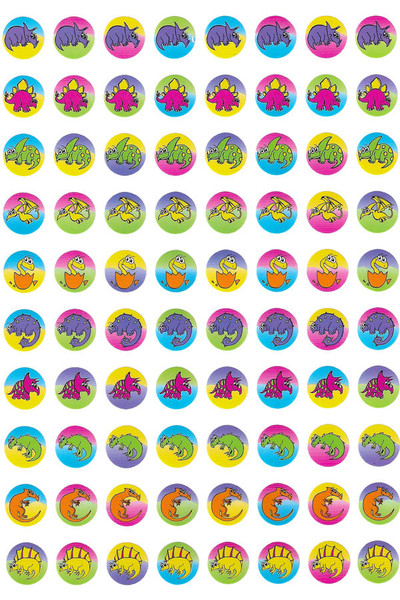 Dynamic Dots Dinosaur Stickers