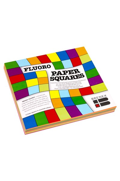 Fluoro Paper Squares - 127mm (Pack of 100)