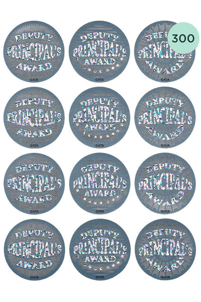 Deputy Principal's Silver Foil Award Stickers - Pack of 300