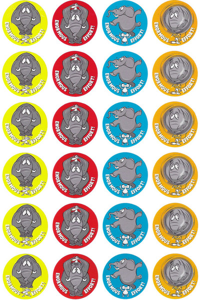 Enormous Effort Elephant Merit Stickers