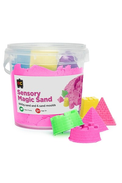 Sensory Magic Sand 600g - Pink (with moulds)