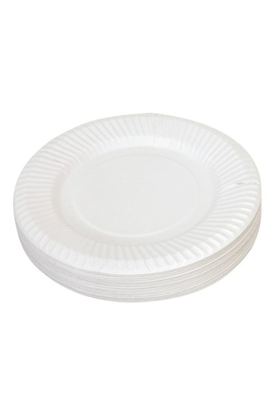 Paper Plate - White: 18cm (Pack of 50)