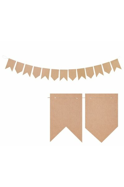 Kraft Paper Bunting - 13 Flags (Pack of 10)