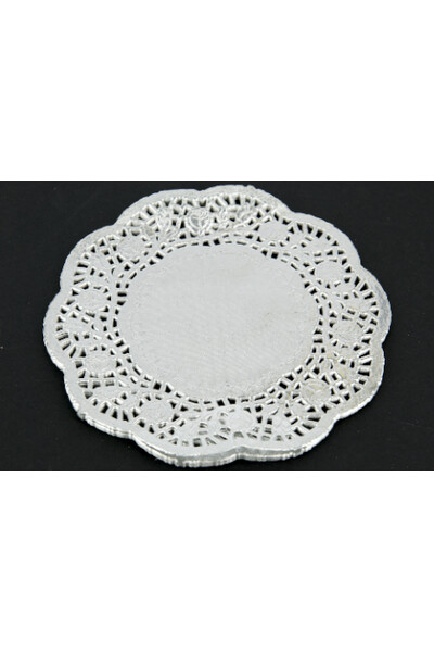 Paper Doilies - Silver: 180mm (Pack of 50)