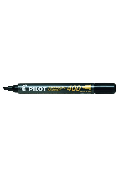 Pilot Markers - 4.00mm Permanent SCA-400 (Chisel Tip Broad): Black (Box of 12)