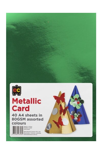 Metallic Card (A4) - Pack of 40