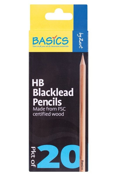 Basics - Blacklead Pencils (Pack of 20): HB
