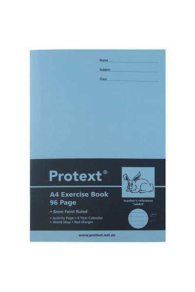 Protext Exercise Book A4 (Rabbit) - 8mm Ruled PP Cover: 96 Pages (Pack of 10)