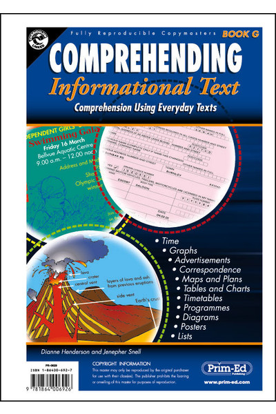 Comprehending Informational Text - Book G: Ages 11-12