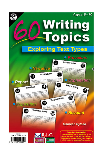 60 Writing Topics - Ages 8-10