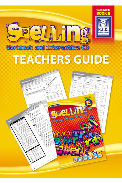 Spelling Workbook - Teachers Guide: Book E (Ages 9-10)