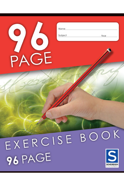 Sovereign Exercise Book (225x175mm) - 8mm Ruled: 96 Pages (Pack of 10)