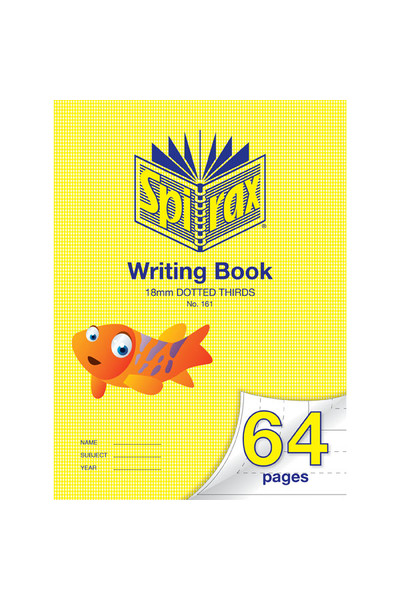 Spirax Writing Book 161 (335x240mm) - 18mm Dotted Thirds: 64 Pages (Pack of 10)