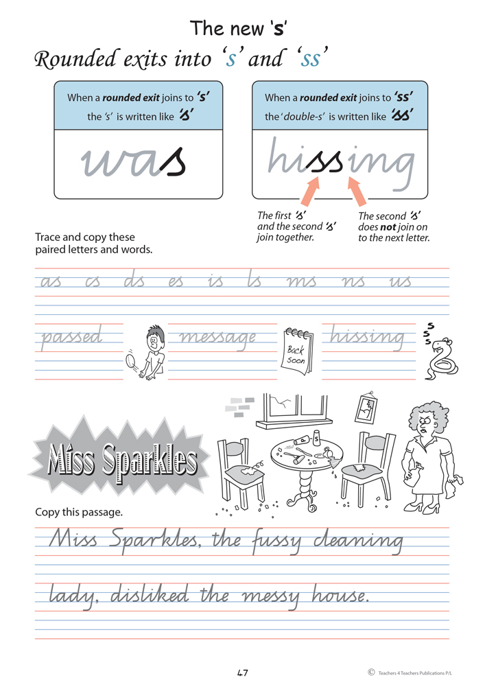 handwriting conventions - qld  year 3